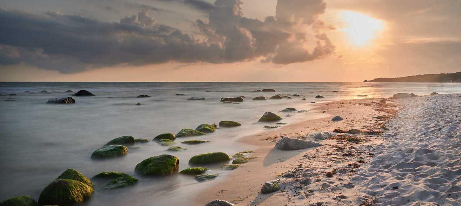 Sonnenuntergang am Strand von Bornholm