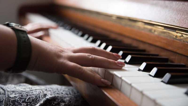 Tasten auf dem Klavier