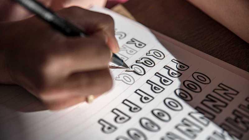 Buchstaben aufschreiben
