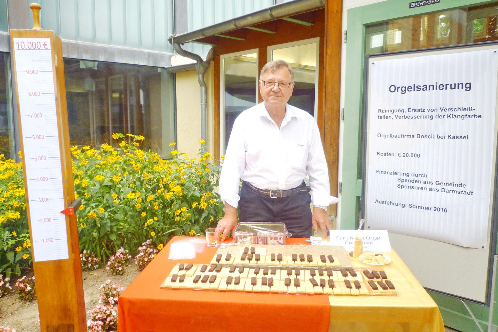 Fundraising-Aktion zur Orgelsanierung in Arheilgen