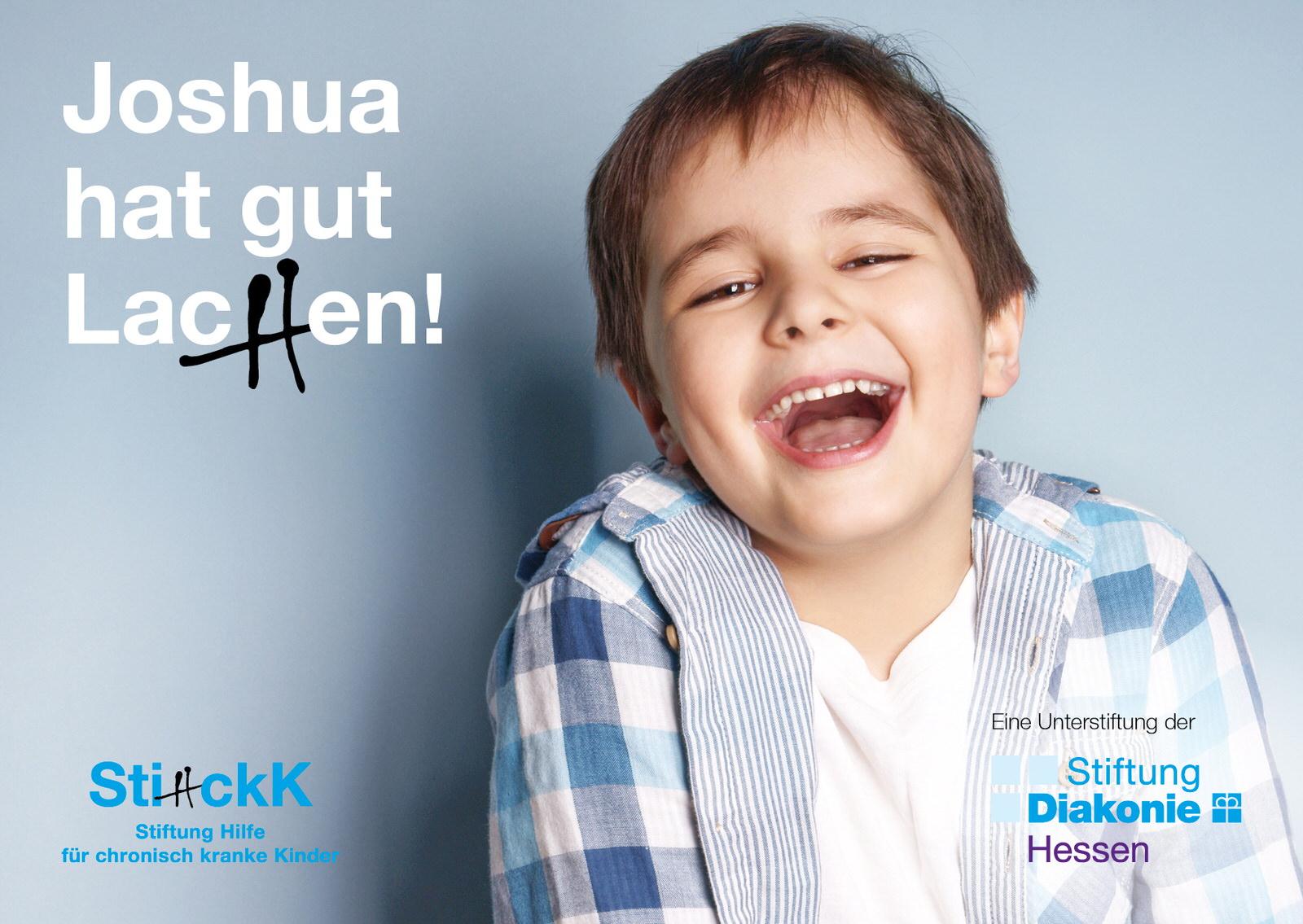 Kampagnenplakat Joshua hat gut lachen