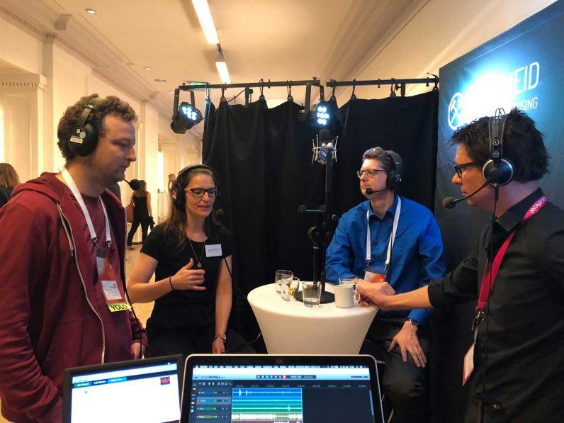 Fundraising Radio Aufnahme auf dem Deutschen Fundraising Kongress